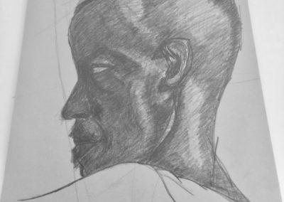 Side face man
